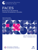 Tapa FACES. Revista de la Facultad de Ciencias Económicas y Sociales / ISSN 0328-4050